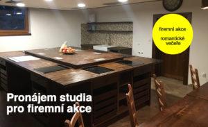 firmeni akce, pronájem, kuchyňské studio, 35 míst, praha, říčany