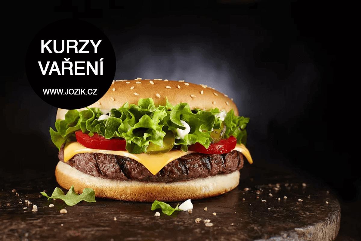 hamburger, burger, hambáč, kurz, vaření, kvalitní, domácí, kurz vaření, jožík,
