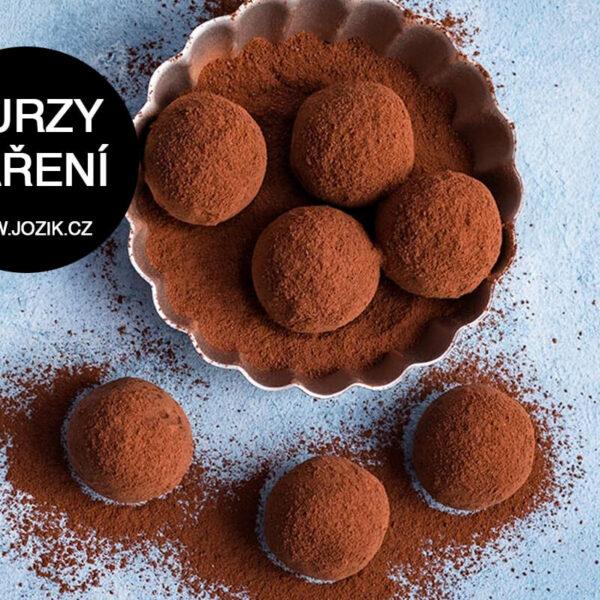 výroba pralinek, kurz, jak temperovat čokoládu, kvlaitní čokoláda, trouffles, jožík,