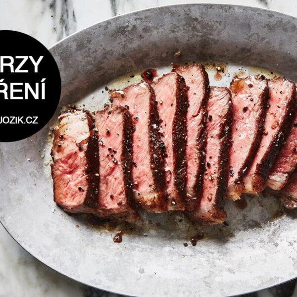 kurz vaření steak, steaky, dokonalý biftek, flank steak, jožík, říčany
